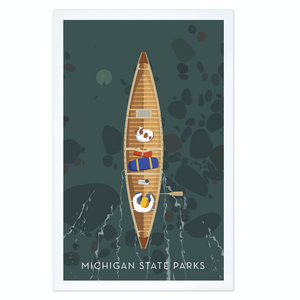 Michigan State Parks Into the Wild Print