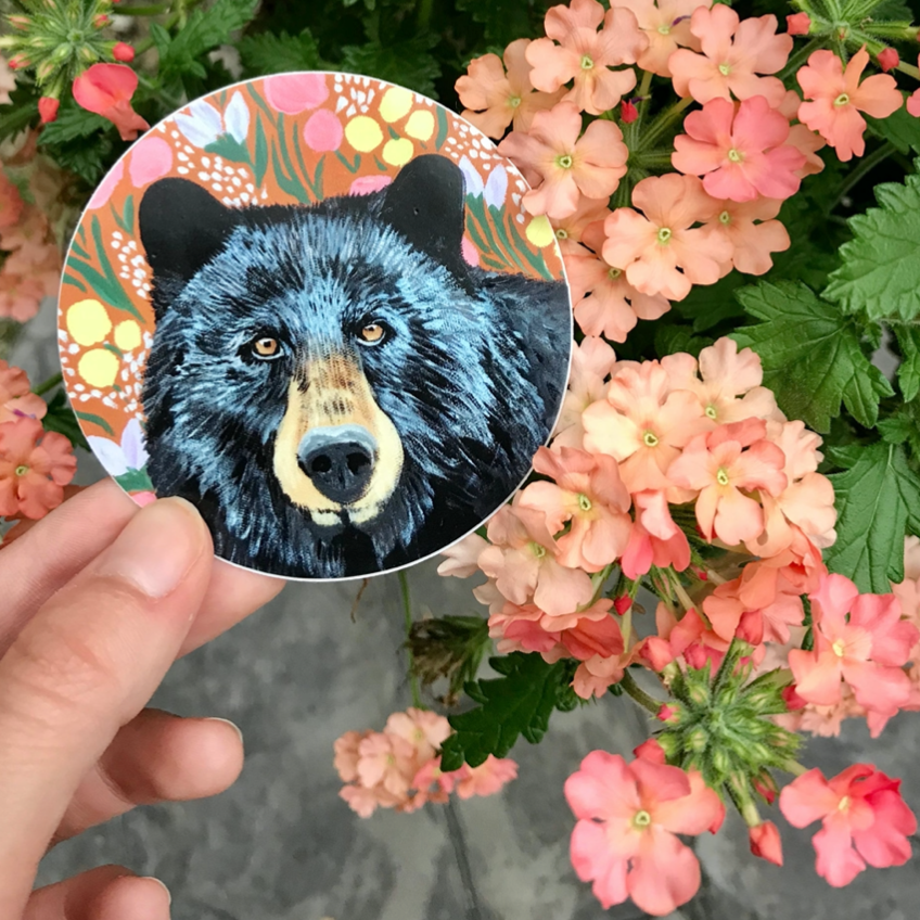 Floral Bear Sticker