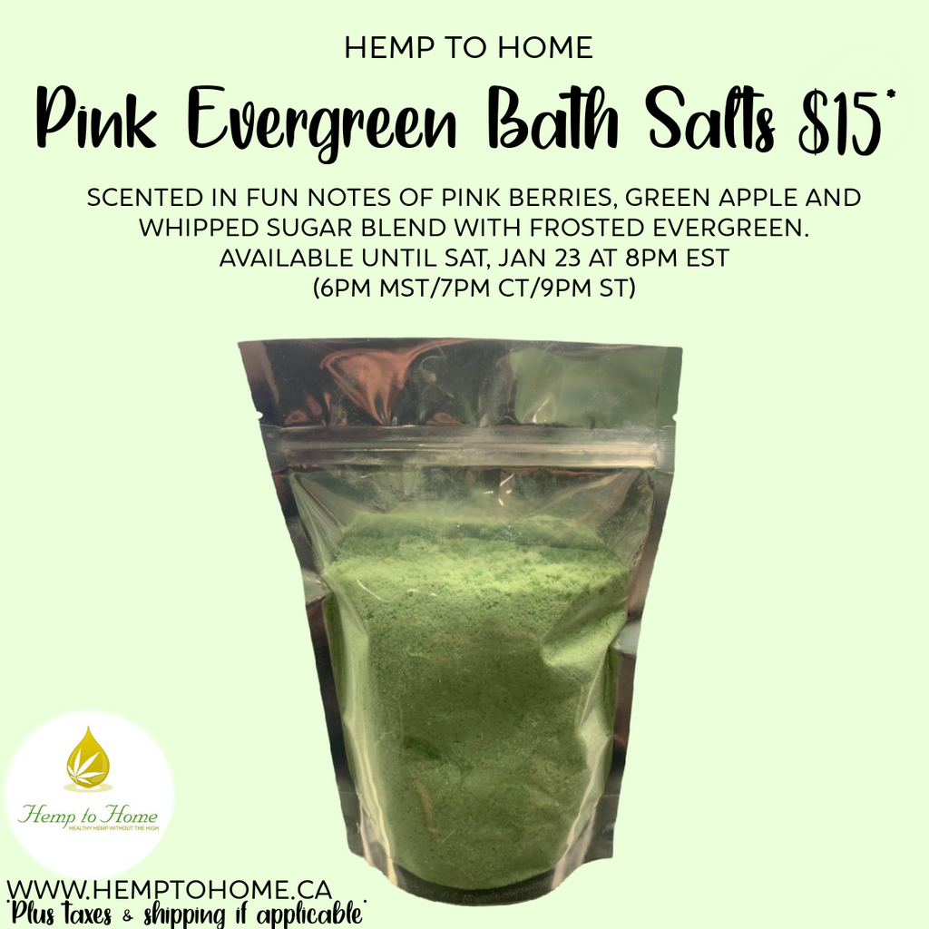 Pink Evergreen Bath Salts