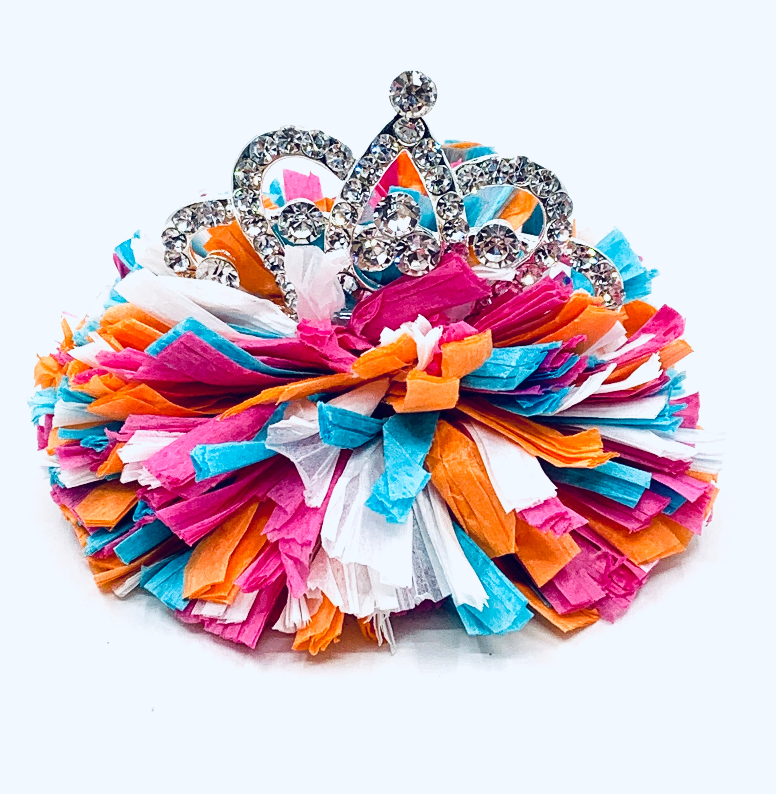 Happy Happy Hair Clip with Tiara
