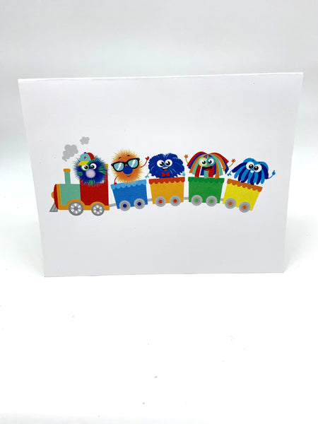 Happy Happy Note Cards- Train Set