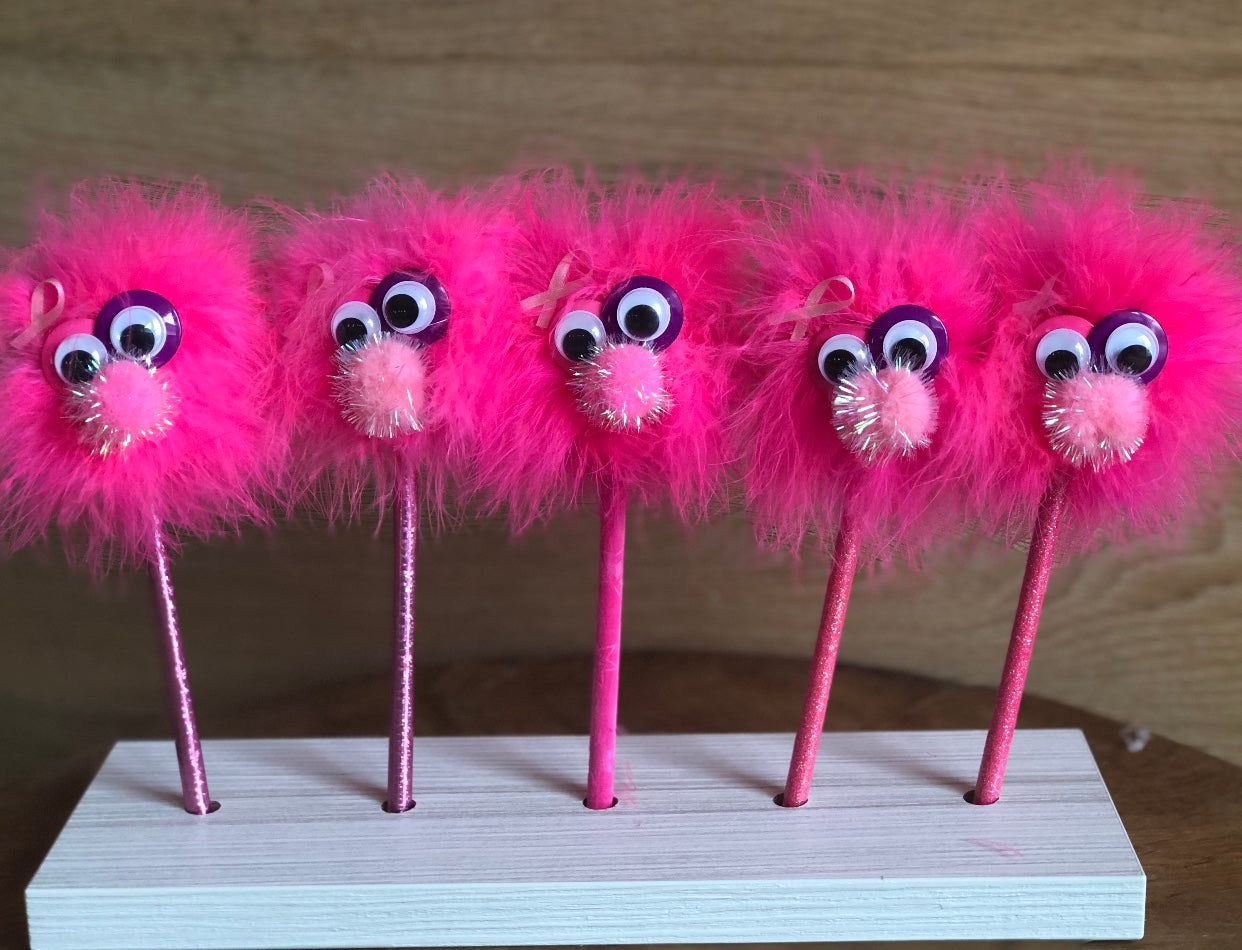 Pinky- The Happy Monster Pencil for Breast Cancer