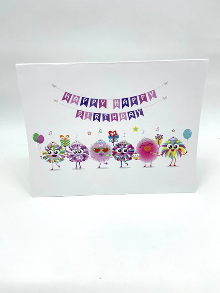 Happy Happy Note Cards- Single Card