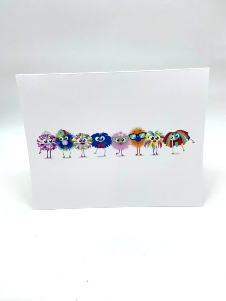 Happy Happy Note Cards-Monster Pals Set