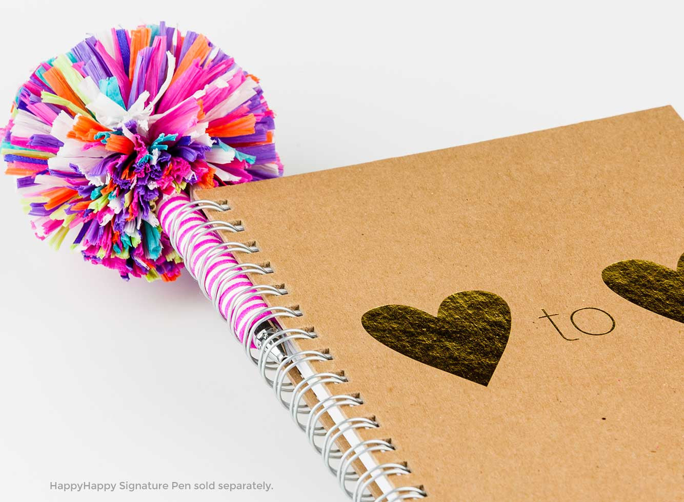 Heart to Heart Journal with handmade HappyHappy Signature specialty pen