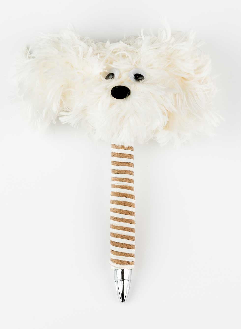 White HappyHappy Everything Handmade Fluffy Specialty Puppy Pen