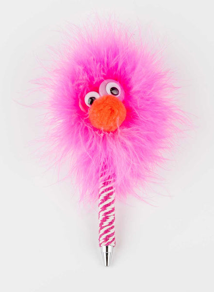 HappyHappy Everything Handmade Specialty Hairy Monster Pen in Pink