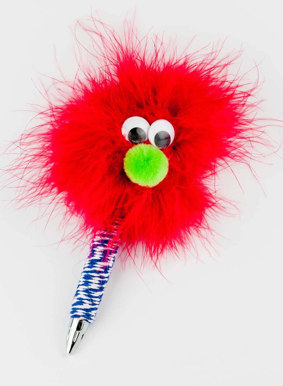 HappyHappy Everything Handmade Specialty Hairy Monster Pen in Red