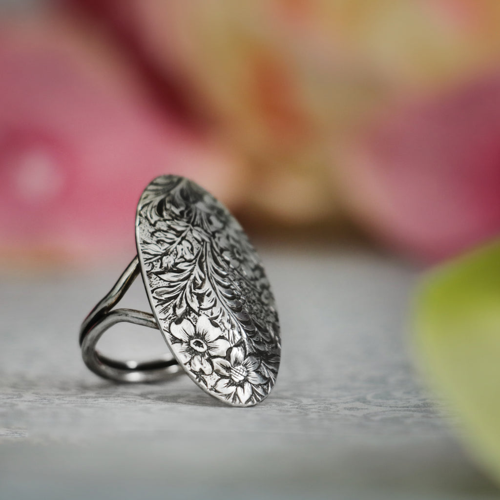 Large Oval Garden Ring by Moonkist Designs