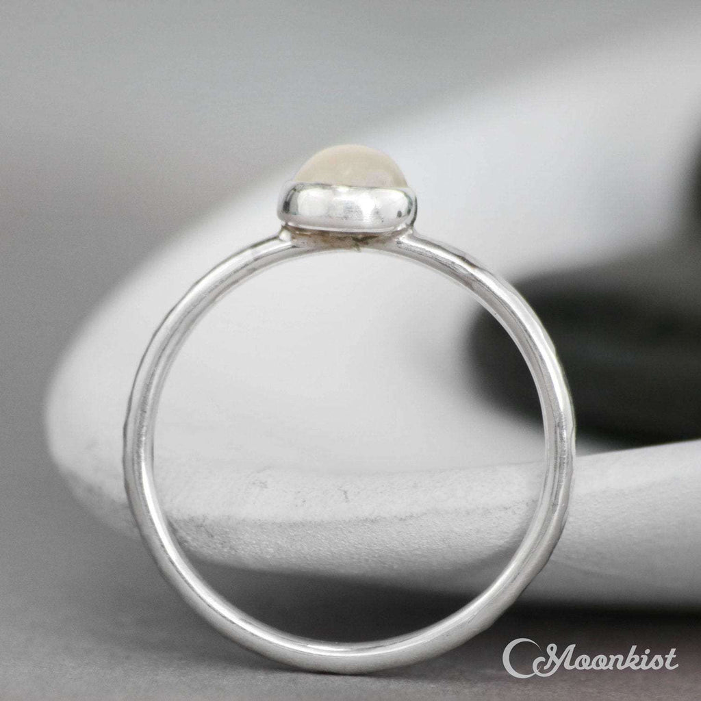 Simple White Moonstone Stacking Ring | Moonkist Designs