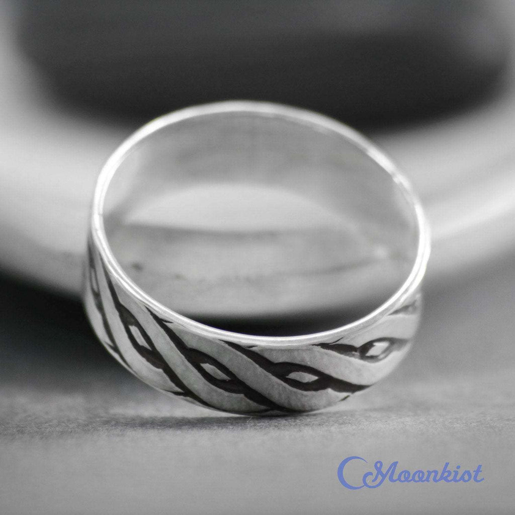 Simple Silver Wide Celtic Band | Moonkist Designs