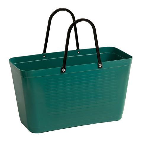 hinza large sugar cane plastic bag in dark green