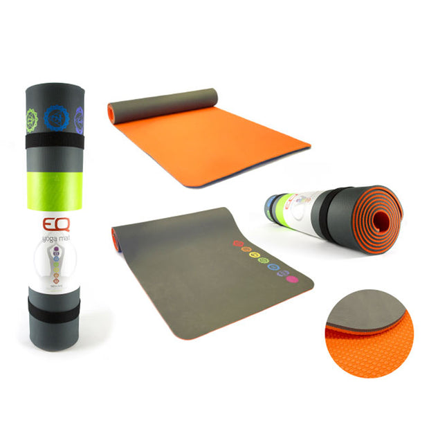 EQ love eco friendly Yoga Mat with chakras wellness lifestyle product