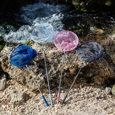 Telescopic Scrunch fishing nets for kids