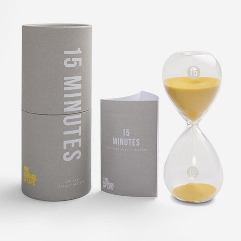 The School Of Life 15 Minute hourglass Timer