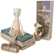 maileg Dancing ballerina Cat and Mouse In A Shoebox soft toy