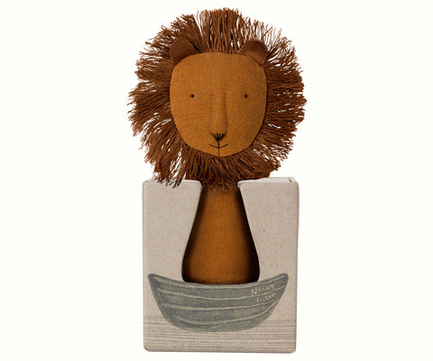 Maileg Noah's Friends Rattle lion baby toy