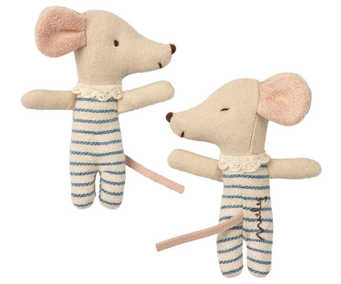 maileg Sleepy wakey baby boy mouse soft toy