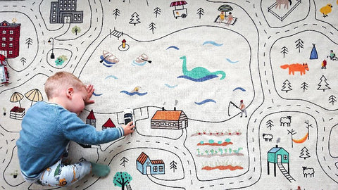 Lakaluk kids Explorer's Play Rug and carpet