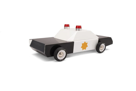 Candylab Americana - Police Cruiser wooden toy car