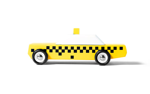 Candylab Junior - City Pack taxi wooden toy cars