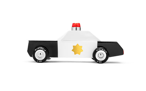 Candylab Junior - City Pack police wooden toy cars