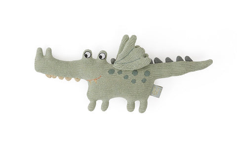 OYOY Darling Rattle Baby Buddy Crocodile toy Green