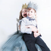 kids wearing sparkle child crowns