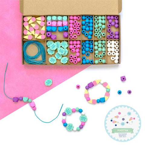 Cotton Twist Bracelet Making Kit - Seaside & Shells