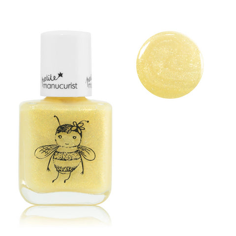 Manucurist non-toxic water-based Nail Polish Pia the bee for kids