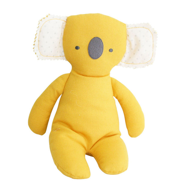 alimrose baby floppy koala soft toy in yellow