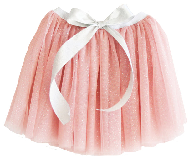 Alimrose amelie girls blush pink tutu skirt with bow