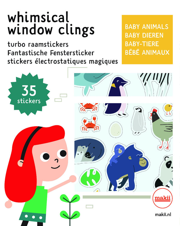 Makii Whimsical Window Clings Baby Animals
