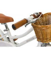 Banwood kids first go bike white with wicker basket