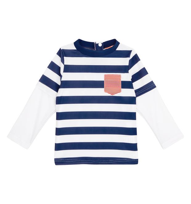 sunuva baby boys white blue stripy sun protection rash vest