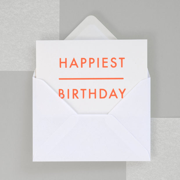 Ola Studio Foil Blocked Card - Happiest Birthday