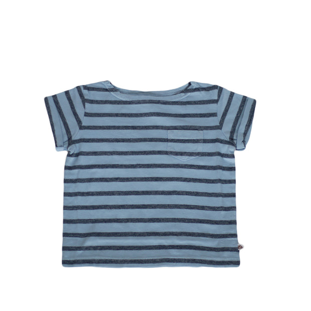 sunchild boys and girls faro stripy blue t shirt