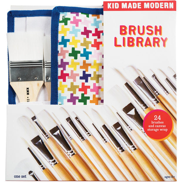 kid made modern 24 painting brush library