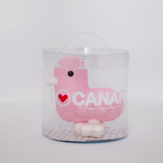 babywatch canar pink duck saving bank money box