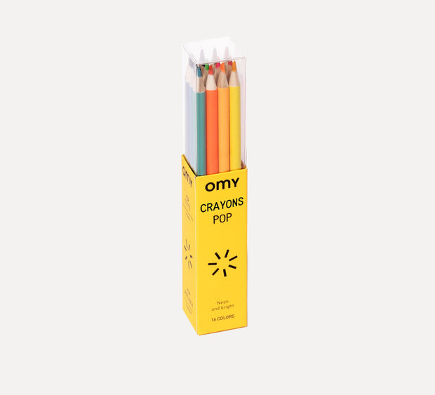 Omy Colouring Pencils in yellow packaging