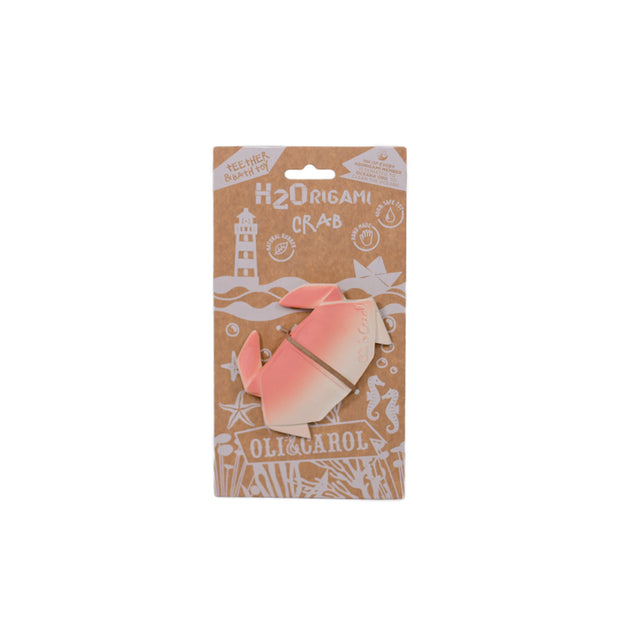 Oli and Carol natural rubber H2 Origami Crab bath and teething toy