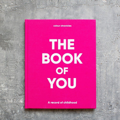 Colour Chronicles The Book of You keepsake for recording moments and memories in pink