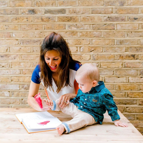 baby and mother filling in Colour Chronicles The Book of You