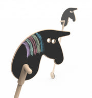 OOH NOO wooden Cowboy hobby Horse On A Stick toy