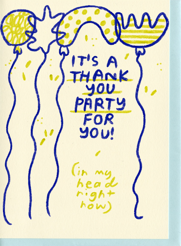 People I've Loved Thank You Party Card