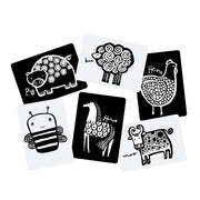 Wee Gallery white and black Art Cards For Baby Farm Collection