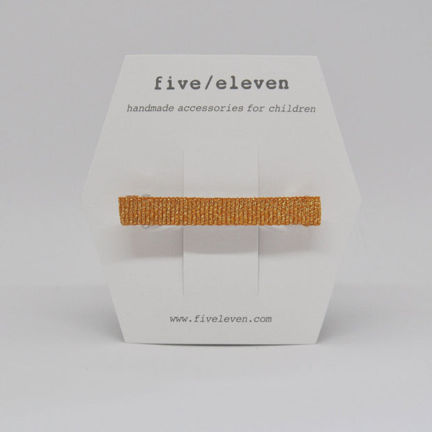 Five/Eleven Hair Barrette Shine clip in mustard yellow