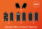 waytoplay grand prix flexible 24 race track pieces