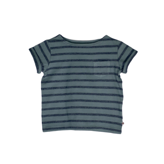 sunchild boys and girls faro stripy galaxy green t shirt