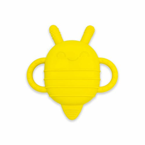 yellow bee silicone baby snack container and teether